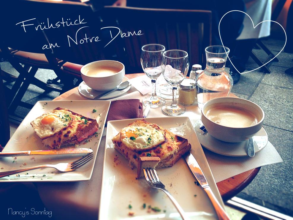 Frühstück am Notre Dame